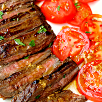 MARINATED GRILLED SKIRT STEAK