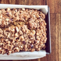 PUMPKIN BREAD WITH HAZELNUT STREUSEL