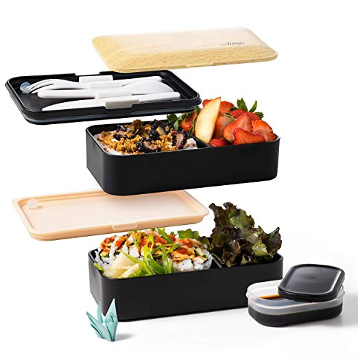 Atthys  Bento Box 2 Compartimentos Estancos 1200 ml - Bambú