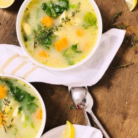 LEMON THYME CHICKEN SOUP