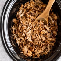 PULLED PORK EN SLOW COOKER